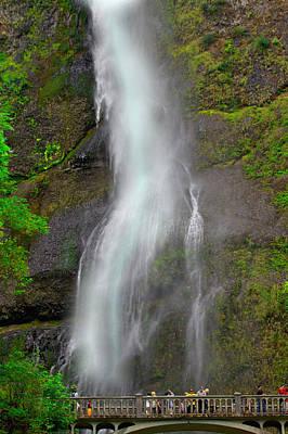 Photograph - Multnomah Falls by SC Heffner