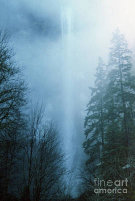 Photograph - Multnomah Falls Through The Clouds by Rick Bures