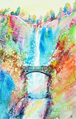 Painting - Multnomah Falls by Zaira Dzhaubaeva