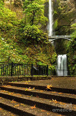 Photograph - Multnomah Falls,oregon by Sal Ahmed