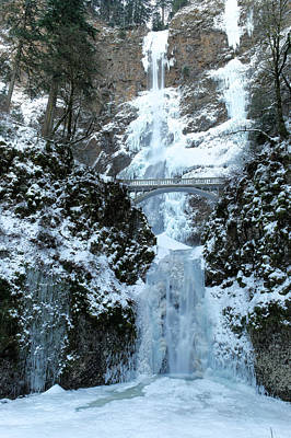 State Parks In Oregon Photograph - Multnomah In Ice by Jeff Swan