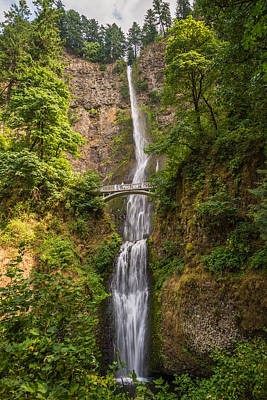 Multnomah Falls Waterfall Photograph - Multnomah by Kristopher Schoenleber