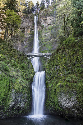 Photograph - Multnomah Waterfalls Oregon In Color by John McGraw