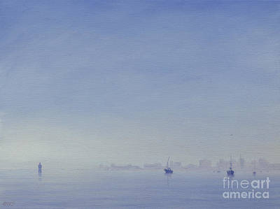 Mumbai Harbour Art Print by Derek Hare