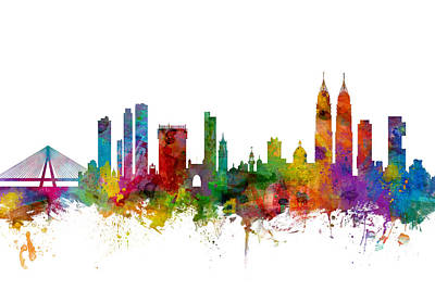 India Digital Art - Mumbai Skyline India Bombay by Michael Tompsett
