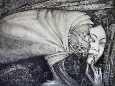 Drawing - Mummenschanz by Otto Rapp