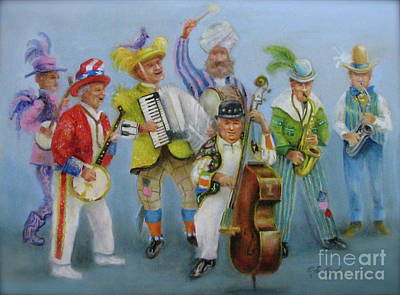 Painting - Mummers Jam Session by Oz Freedgood