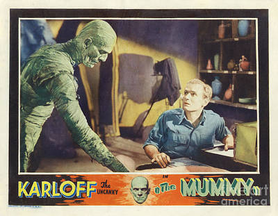 Painting - Mummy 1932 Film Poster by R Muirhead Art