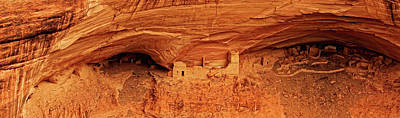 American Southwest Photograph - Mummy Cave Ruin Panorama by David Ross