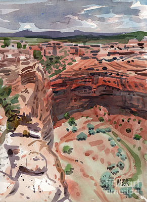 Mummies Painting - Mummy Caves Overlook by Donald Maier