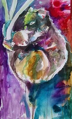 Koala Painting - Mummy Koala And Joey by Emma Kaufmann