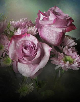 Photograph - Mums And Roses by David and Carol Kelly