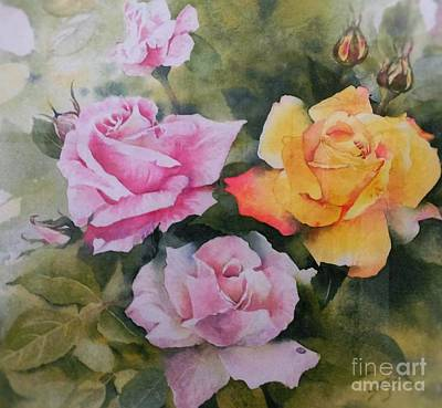 Painting - Mum's Roses by Sandra Phryce-Jones