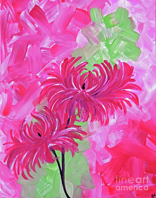 Mums Painting - Mums The Word by Jilian Cramb - AMothersFineArt