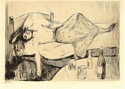 After Munch Painting - Munch, Edvard 1863-1944 The Day After 1894 by Celestial Images