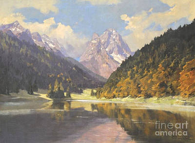 Lake Painting - Munchen by MotionAge Designs