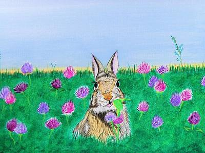 Painting - Munching Bunny by Sonja Jones