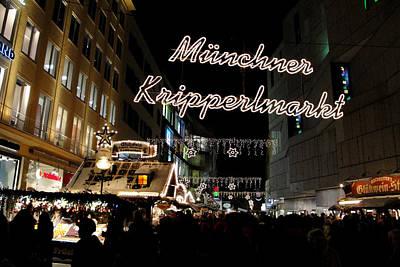 Photograph - Munchner Kripperlmarkt by Robert Meyers-Lussier