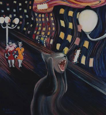 Munch's Cat--the Scream Art Print