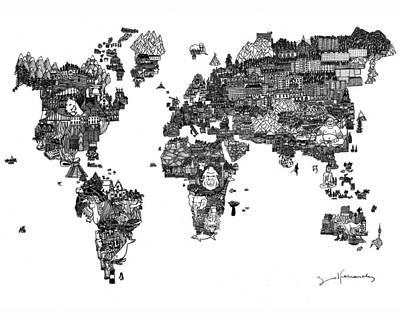 Oceania Drawing - Mundo by Sol Fernandez