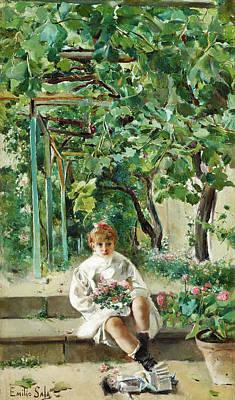 Muneca Painting - Muneca Abandonata by Emilio Sala Frances