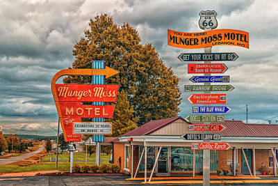 Photograph - Munger Moss Motel Route 66 Missouri -- 7r2_dsc1370_16-10-05 by Greg Kluempers