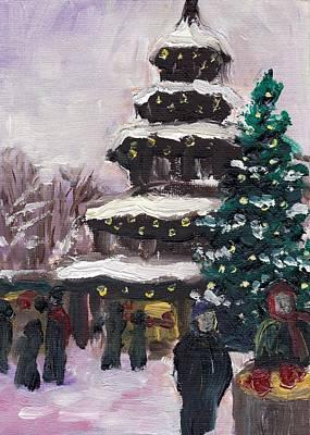 Chinese Market Painting - Munich Christmas 1 by Julie Galante