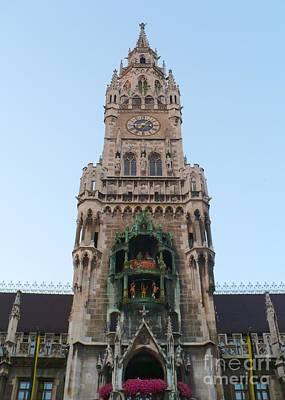 Munich Neues Rathaus Tower Art Print by Carol Groenen