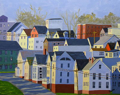 Maine Landscape Painting - Munjoy Afternoon by Laurie Breton