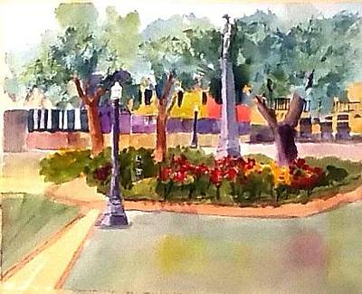 Painting - Munn Park, Lakeland, Fl by Larry Hamilton
