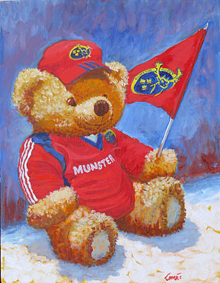 Rugby Painting - Munster Abu by Tomas OMaoldomhnaigh
