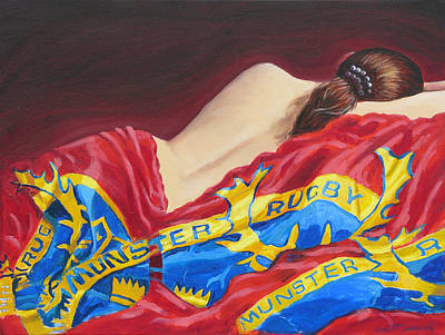 Rugby Painting - Munster Dreams by Tomas OMaoldomhnaigh