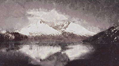 Digital Art - Munt St Helens by Mario Carini