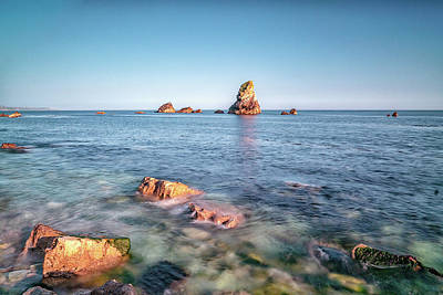 Photograph - Mupe Rock In The Waves by Framing Places