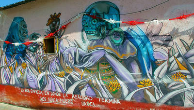 Photograph - Mural @ Oaxaca Mexico by Jim McCullaugh