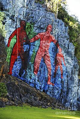 Del Rio Photograph - Mural De La Prehistoria  by Ruth Hofshi
