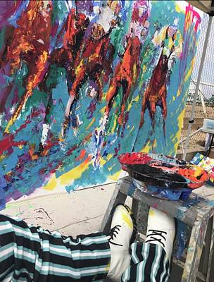 Painting - Mural Del Mar Race Track by Heather Roddy
