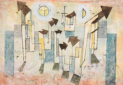 Temple Drawing - Mural From The Temple Of Longing by Paul Klee