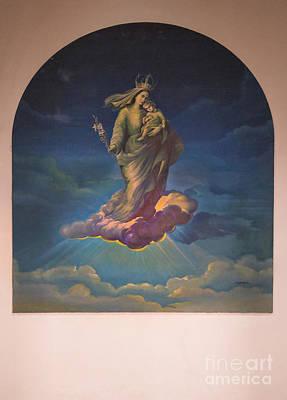 Studio Murals Photograph - Mural In Church At Azogues Ecuador by Al Bourassa