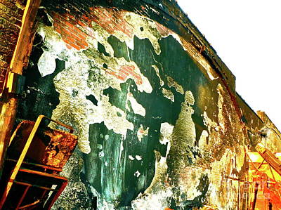 Mural Of Destruction Art Print by Chuck Taylor