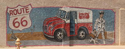 Mural On Historic Route 66 Art Print