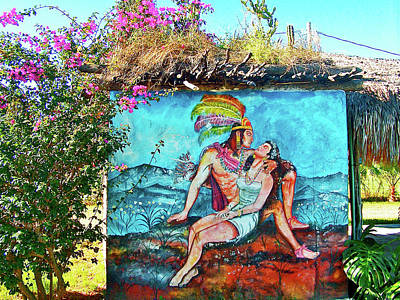 Photograph - Mural On Restroom In El Fuerte Campground In Sinaloa, Mexico by Ruth Hager
