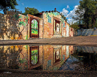 Mural Reflected Art Print by Christopher Holmes