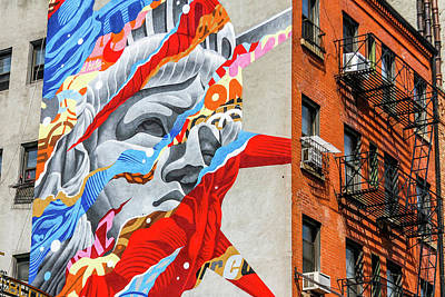 Photograph - Mural With Context Nyc by Menachem Ganon