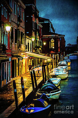 Photograph - Murano At Night. by Brian Tarr