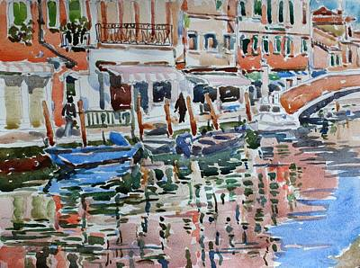 Painting - Murano Canal by Owen Hunt