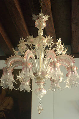 Bringing The Outdoors In - Murano Chandelier Modonna Dell Orto by Suzanne Powers
