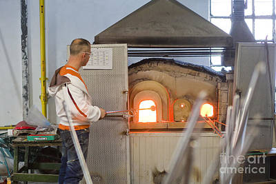 Murano Glass Photograph - Murano Glass Workers by Andre Goncalves