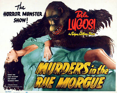 Damsel In Distress Photograph - Murders In The Rue Morgue, The Girl by Everett