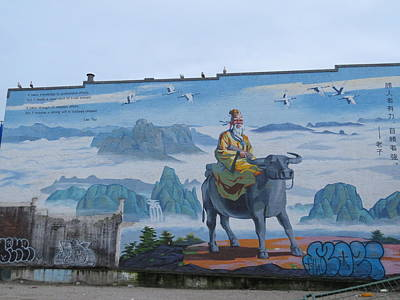Photograph - Mural In Chinatown Vancouver by Hagen Pflueger